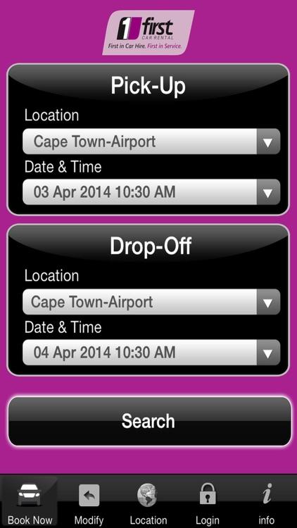 First Car Rental Booking App