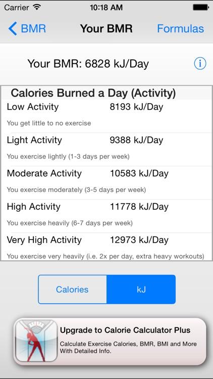 Basal Metabolic Rate - BMR Calculator screenshot-4
