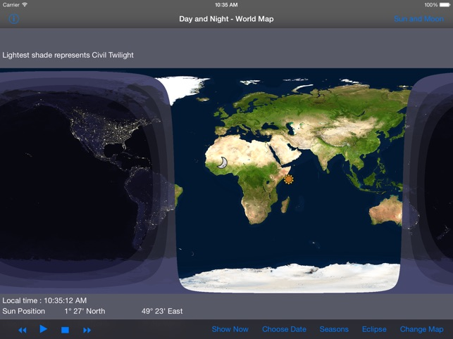 Day and night world map hd on the app store ipad screenshots gumiabroncs Image collections