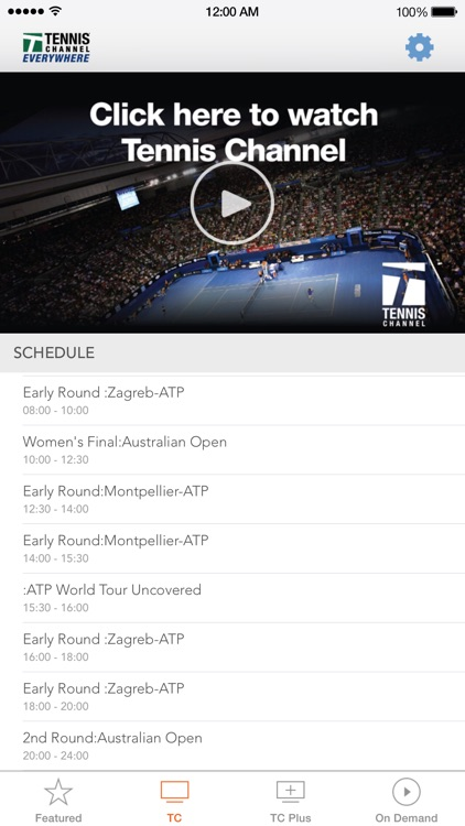 Tennis Channel Everywhere app image