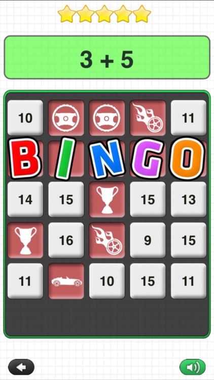 Math Bingo Games - A Racing Game for Kids by Tap To Learn screenshot-3
