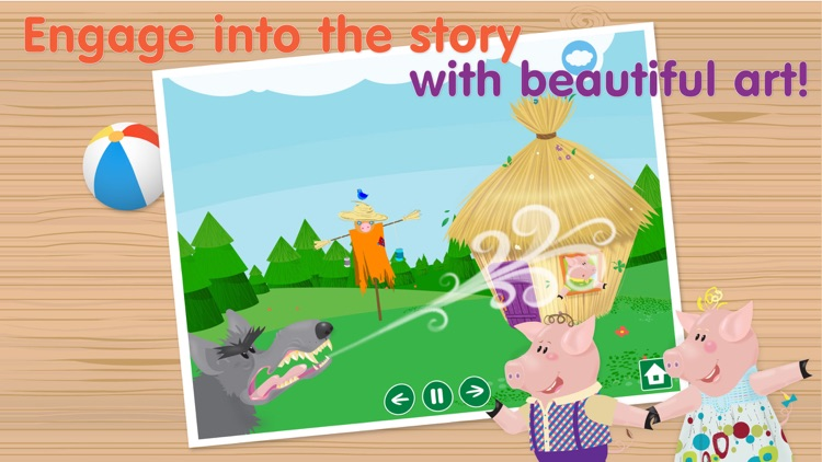 The Three Little Pigs - Interactive bedtime story book screenshot-4