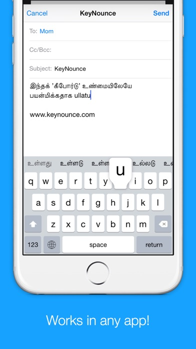 Tamil Transliteration Keyboard by Keynounce screenshot three