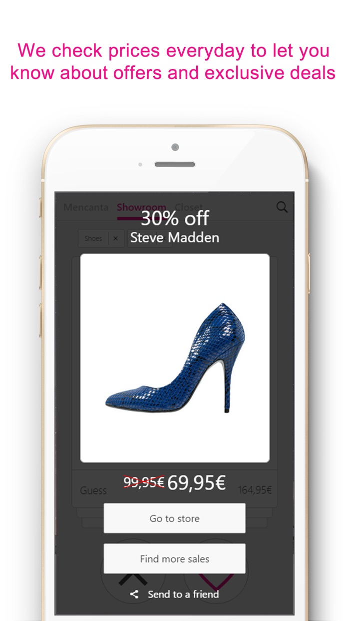 Mencanta Shoes – Offers in sandals, boots, heels and sneakers. Exclusive discounts on shoes from Manolo Blahnik, Christian Louboutin, Jimmy Choo, Fred Perry, New Balance, Justfab, Jeffrey Campbell, Clarks, Converse, Sam Edelman and more. Screenshot