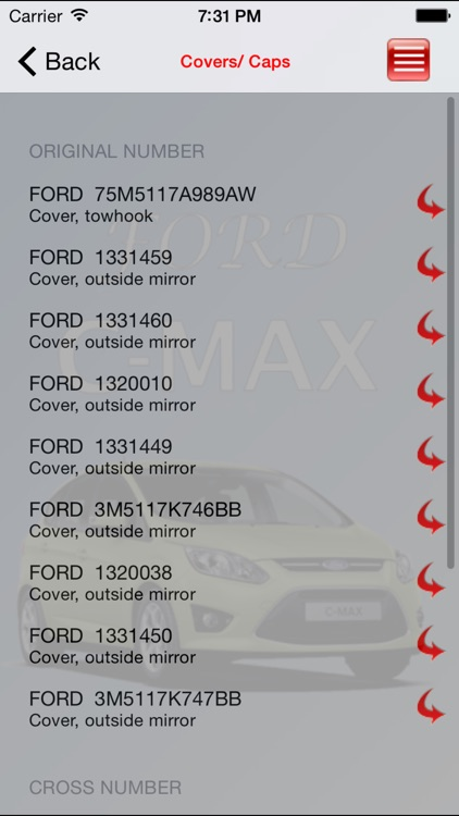 Autoparts Ford C-max screenshot-1