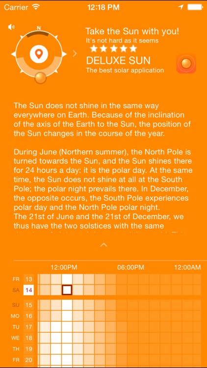 Sun Day Length - how long is the day today
