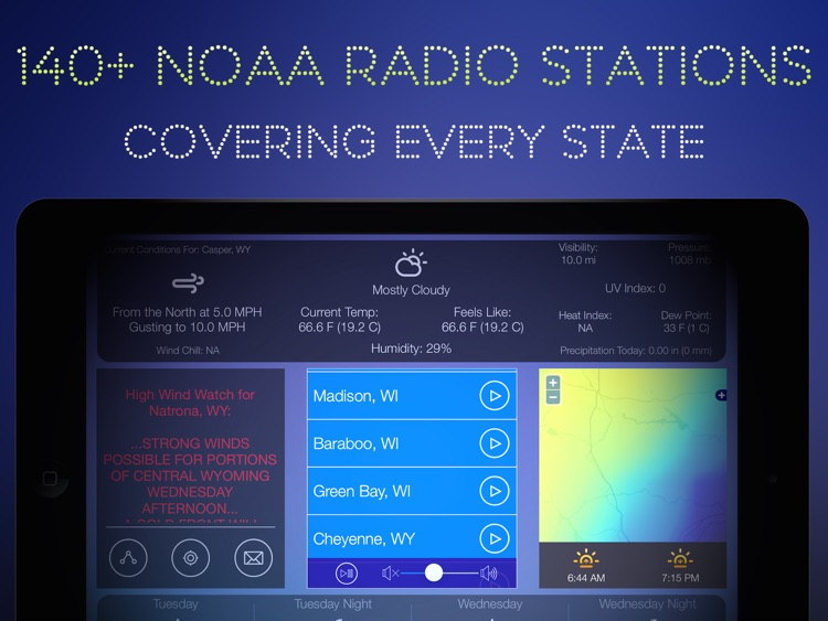 Weather Tune : NOAA Radio and Live Storm Alerts