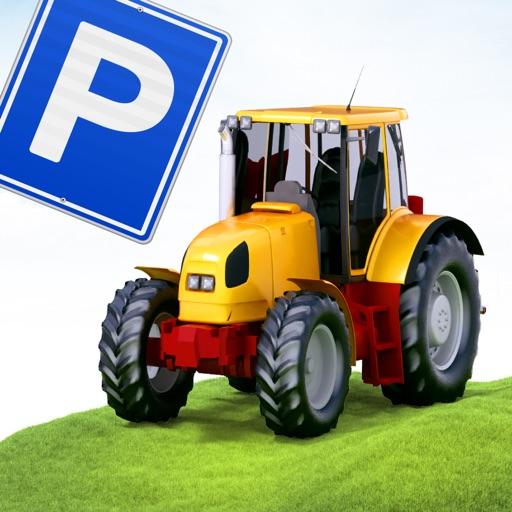 3D Farm-ing Tractor Park-ing School Drive-r Simulator