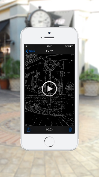 Outline Camera - Expresses a captured object only using lines.