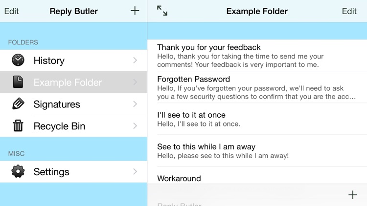 Reply Butler - Text Snippets for Customer Support