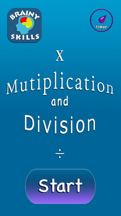 Brainy Skills Multiplication and Division