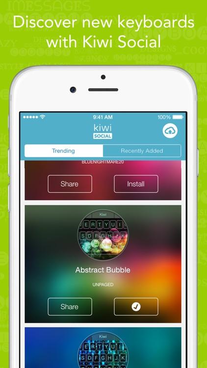 Kiwi - Colorful, Custom Keyboard Designer with Emoji for iOS 8
