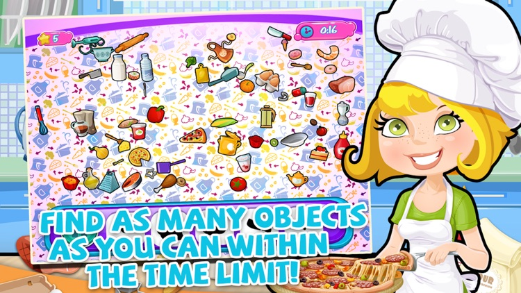 Crazy-Messy Kitchen! Diner Chef - Hidden Objects Puzzle Game