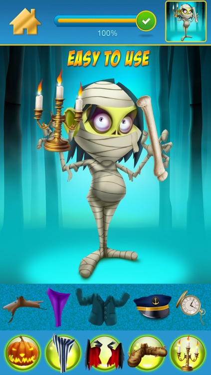 My Scary Little Zombies And Monsters Draw and Copy Game Free Game screenshot-3