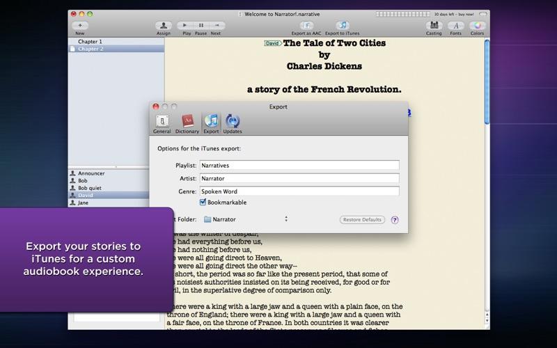 文本转语音软件 Narrator   for Mac