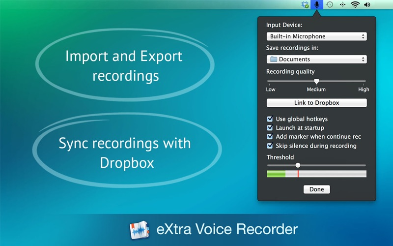 eXtra Voice Recorder Screenshot