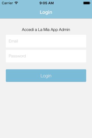 La Mia App Admin - náhled