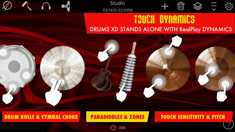 Drums XD - Studio Quality Percussion Custom Built By You! - iPhone Version