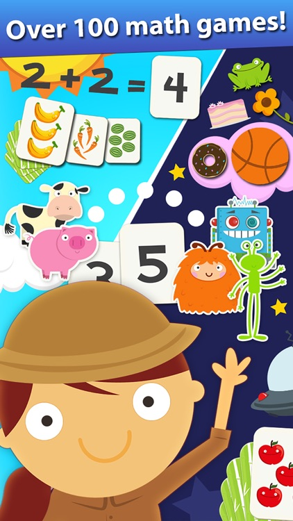 Animal Math Games for Kids in Pre-K, Kindergarten and 1st Grade Learning Numbers, Counting, Addition and Subtraction Premium screenshot-0