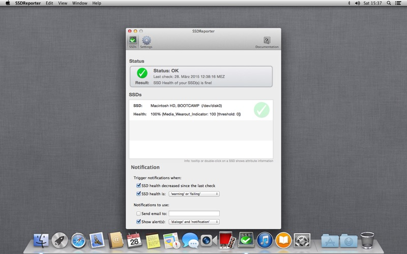 SSDReporter Screenshots