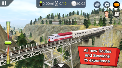Trainz Driver 2 - train driving game, realistic 3D railroad simulator plus world builder-0