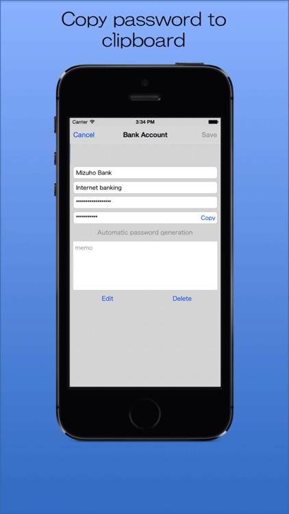 Password Memory -The Simple Password Manager- screenshot-4