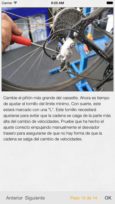 Screenshot for Bike Doctor - Guía fácil sobre reparación y mantenimiento de bicicletas in Spain App Store
