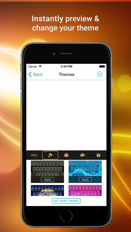 Color Vibes Keyboard - experience typing with the best custom themes extension, top stickers and emoji screenshot-4