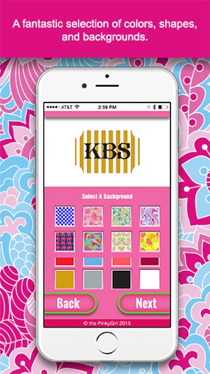 The PinkyGirl Monogram Maker And Text App screenshot-2