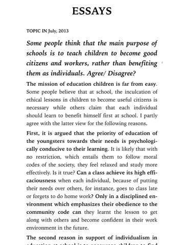 English Sample Essays Screenshot  Science Essays also Sample Essay Thesis Statement Ielts Band  Sample Essays  Real Tests By Miracel Griff On Apple Books Purpose Of Thesis Statement In An Essay