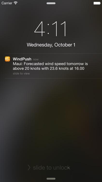 WindPush - Wind Forecast Notifier screenshot-0