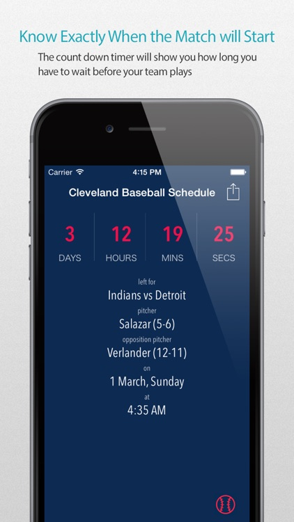 Cleveland Baseball Schedule Pro — News, live commentary, standings and more for your team!