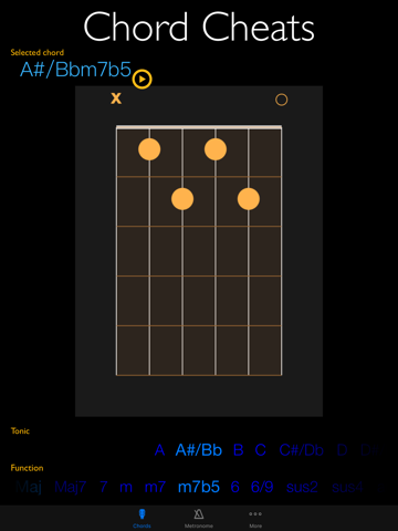 Chord Cheats & Metronome - Chord diagrams, tone generator and metronome for  Watch | App Price Drops
