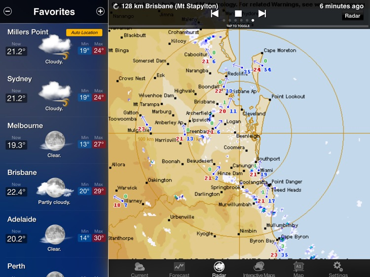 Australia Weather Information for iPad