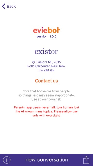 eviebot on the app store