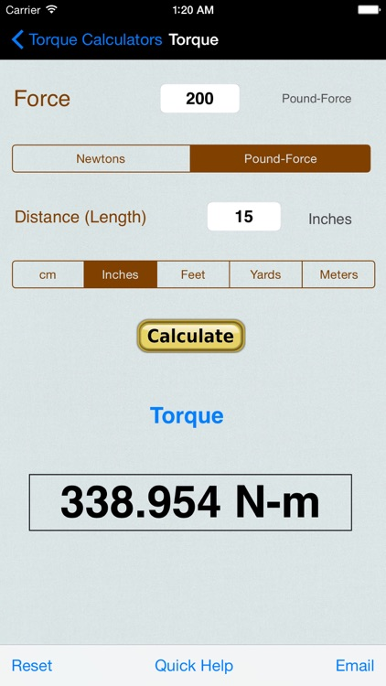 Torque Calculator & Units Converter screenshot-0