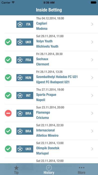 Inside Betting screenshot two
