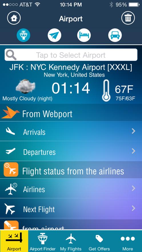 New York Kennedy Airport JFK- Flight Tracker App 截图