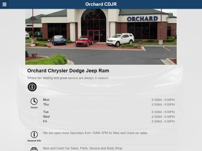Orchard Chrysler Dodge Jeep On The App Store