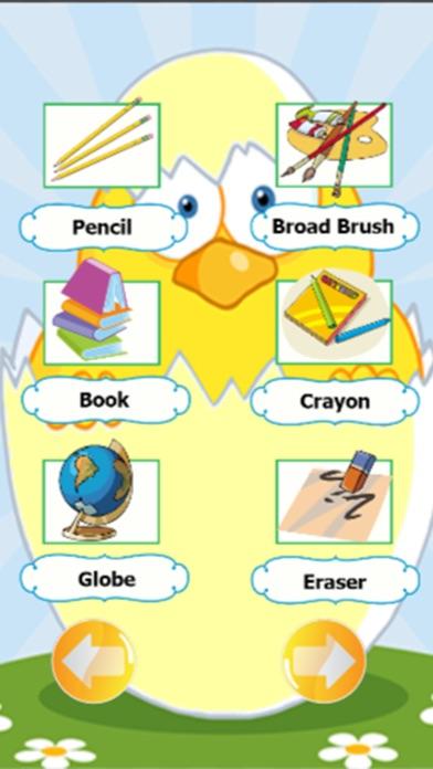 School supplies vocabulary and English conversation
