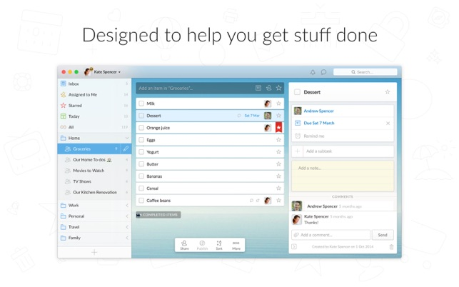 Wunderlist: To-Do List & Tasks on the Mac App Store
