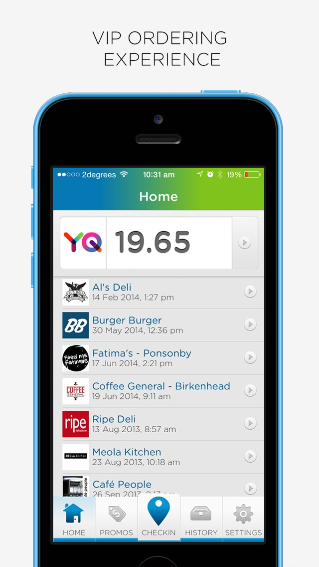 YQ | Order Takeout and Coffee Online - NZ screenshot one