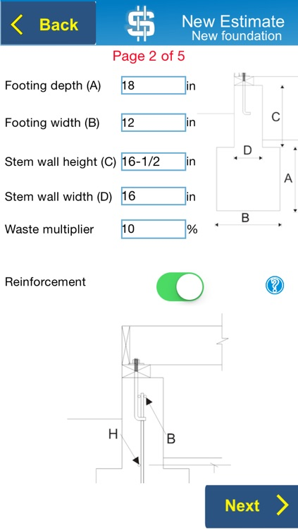 Concrete Foundation Estimator