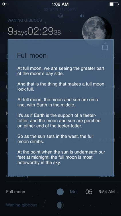Moon Phases Deluxe - Full and New Moon Calendar