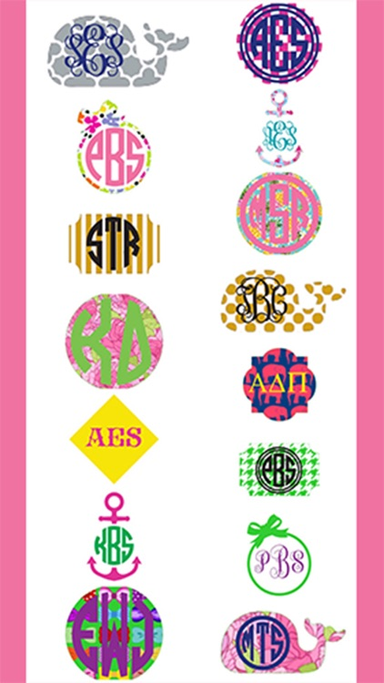 The PinkyGirl Monogram Maker And Text App screenshot-4