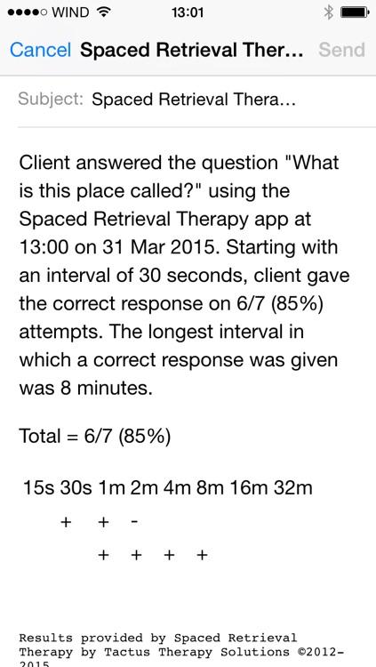 Spaced Retrieval Therapy - Memory Training for Dementia & Brain Injury screenshot-3