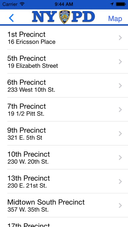 NYPD Precincts screenshot-2
