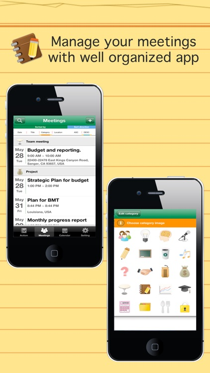 Smart meeting minutes multi sync - Schedule & action item check list screenshot-3
