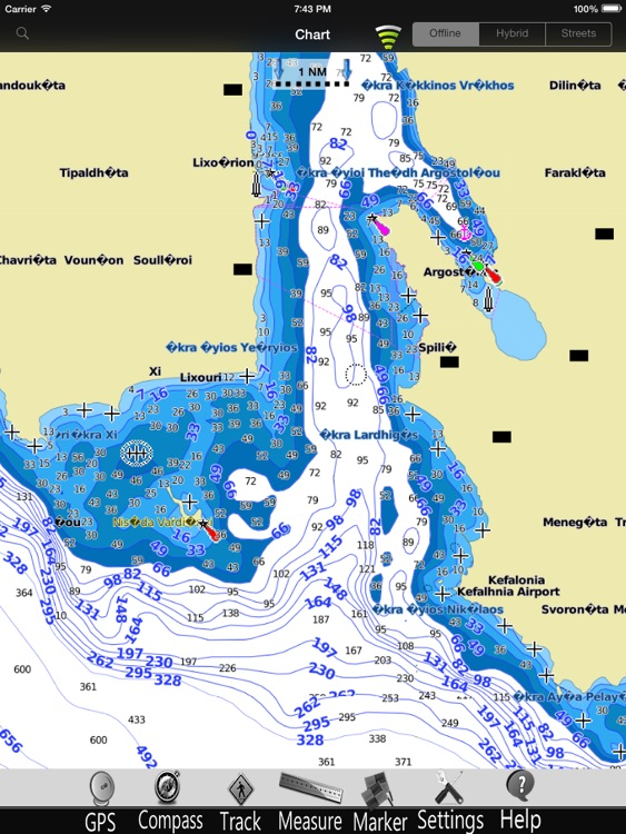 Greece West Nautical Chart HD screenshot-2