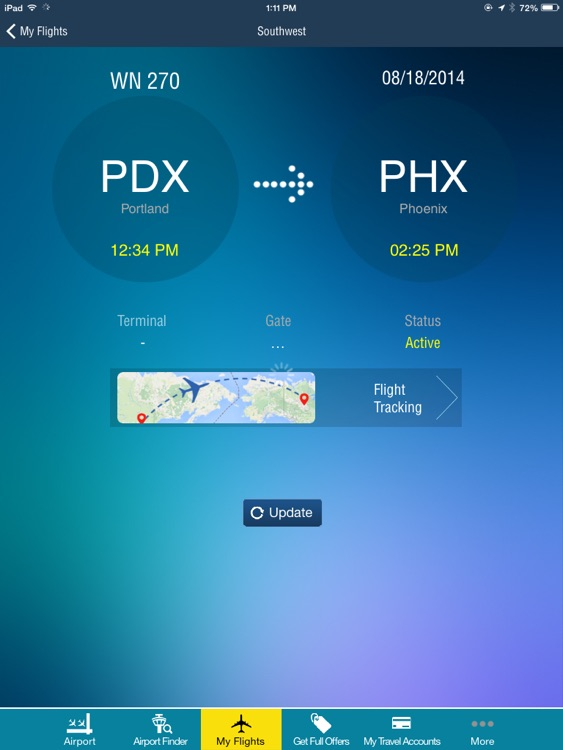 Phoenix Airport + Flight Tracker HD screenshot-2